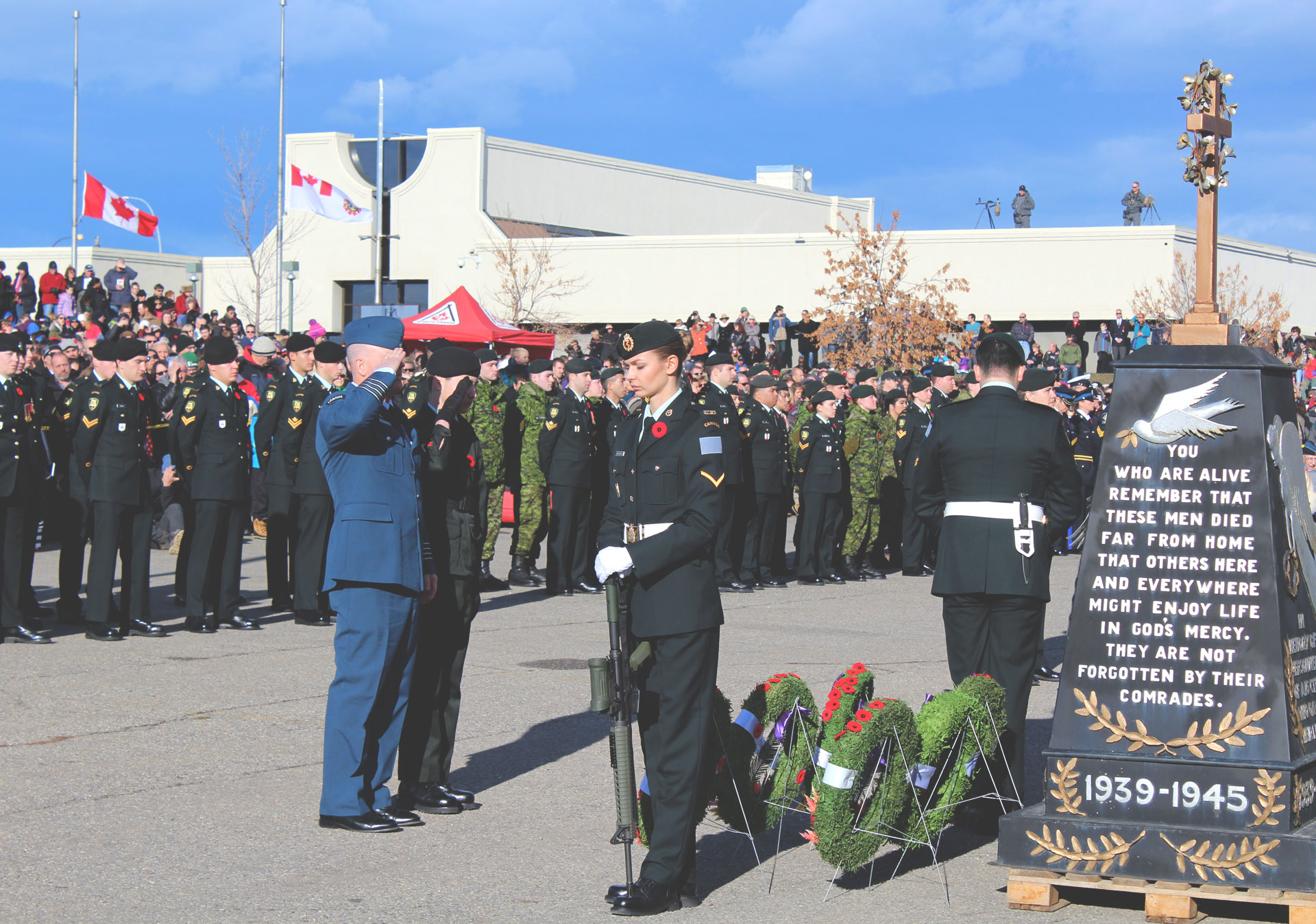Remembrance Day at The Military Museums in Calgary.