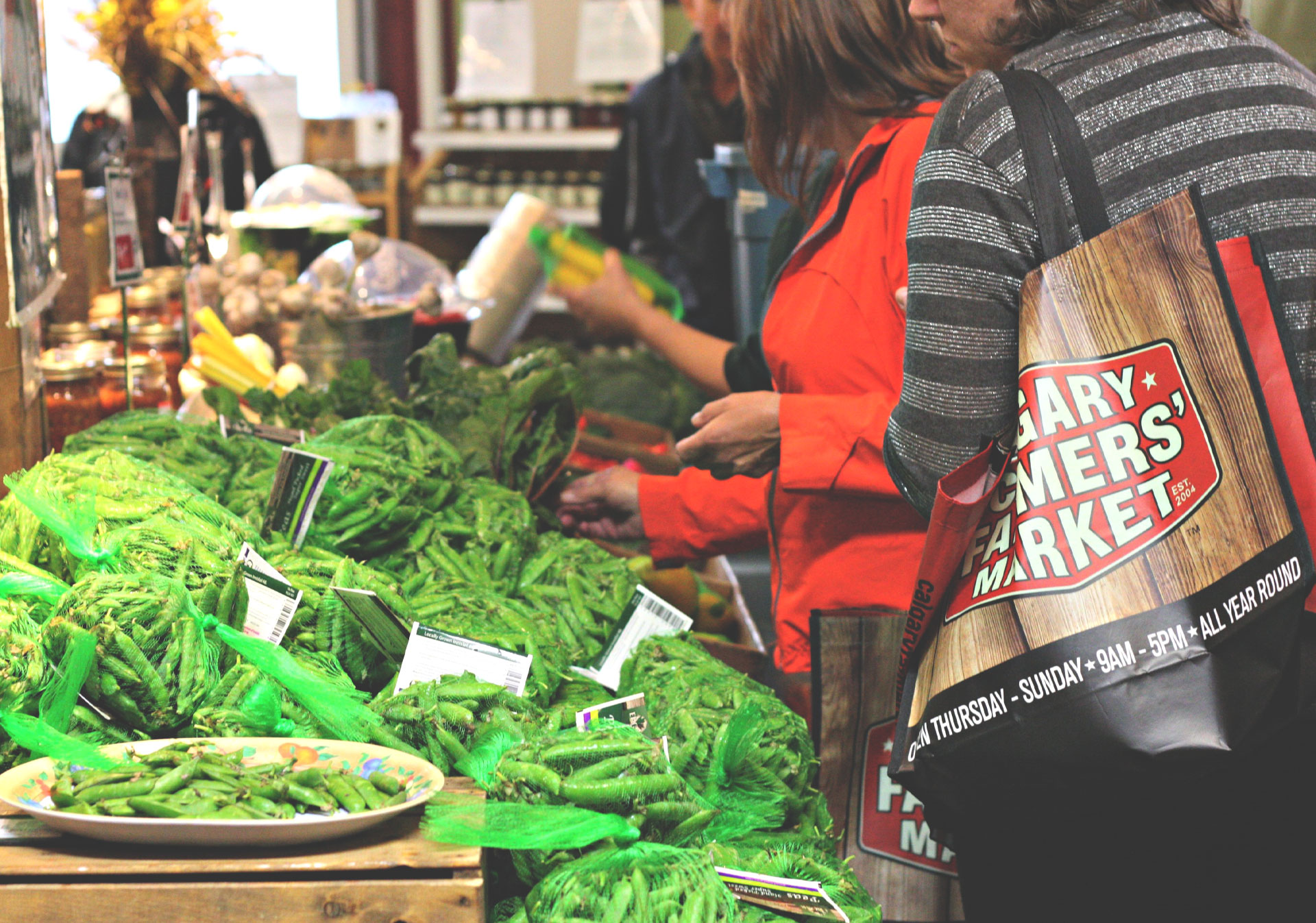 Fresh veggies at the Calgary Farmers' Market