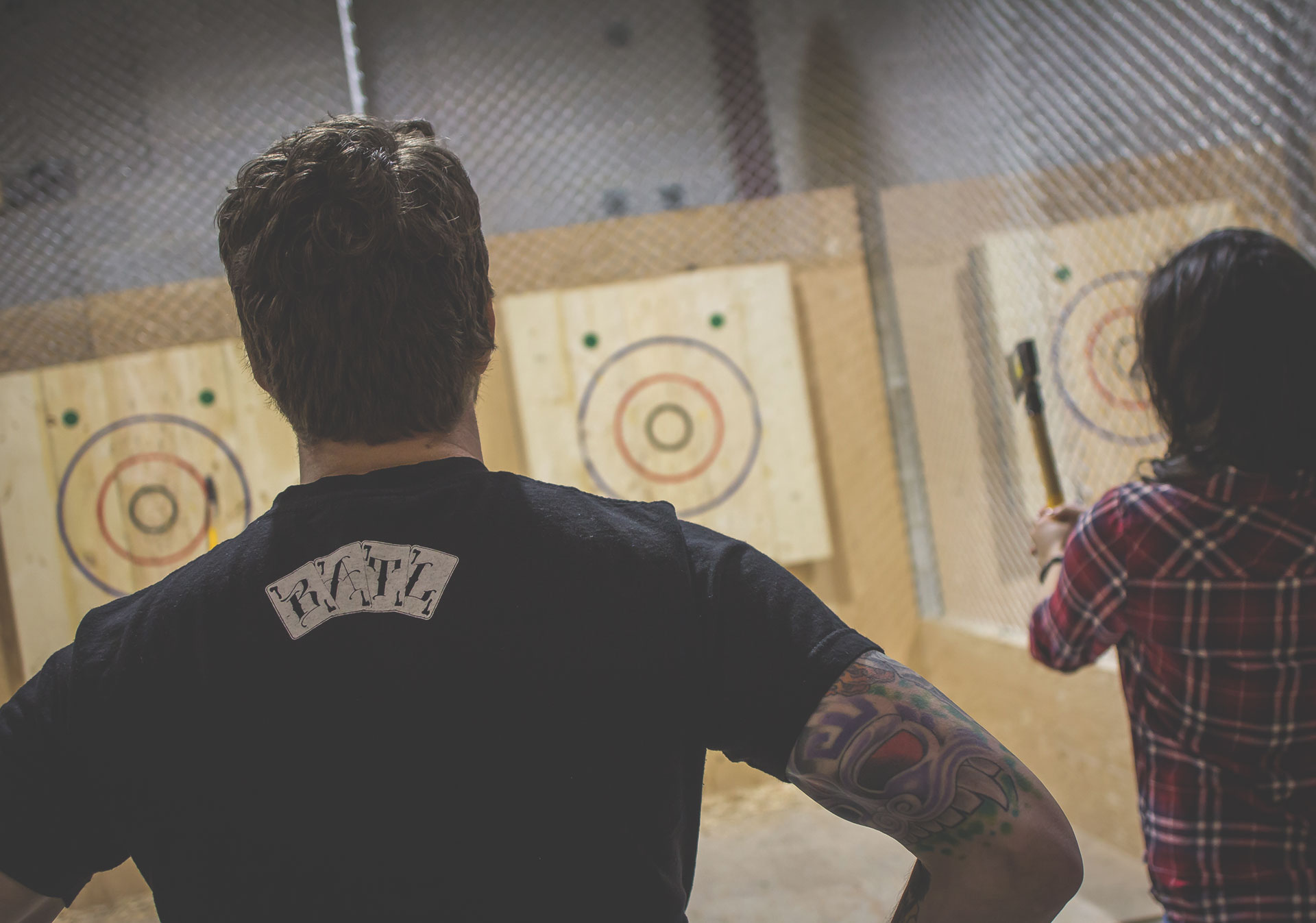 Axe thrower at BATL: Axe Throwing
