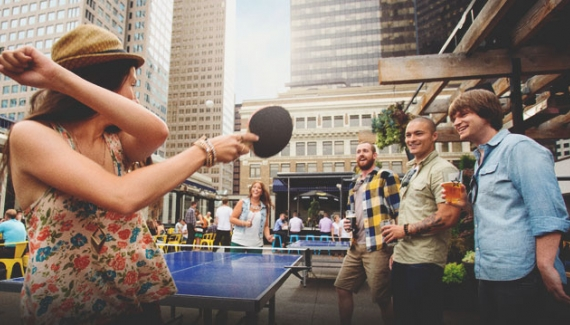Rooftop pation ping pong at national on 8th