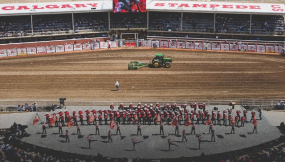 Calgary Stampede Showband at the Calgary Stampede Rodeo
