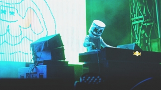 Marshmello on stage